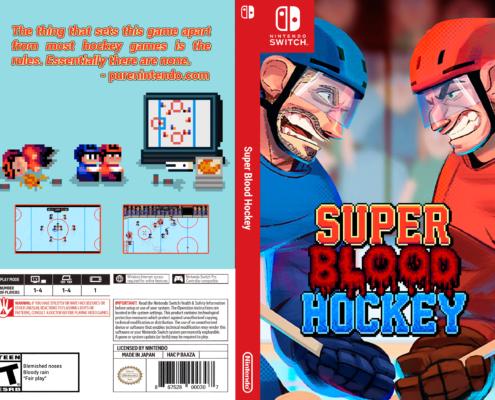 Super Blood Hockey Cover - Retro Logo