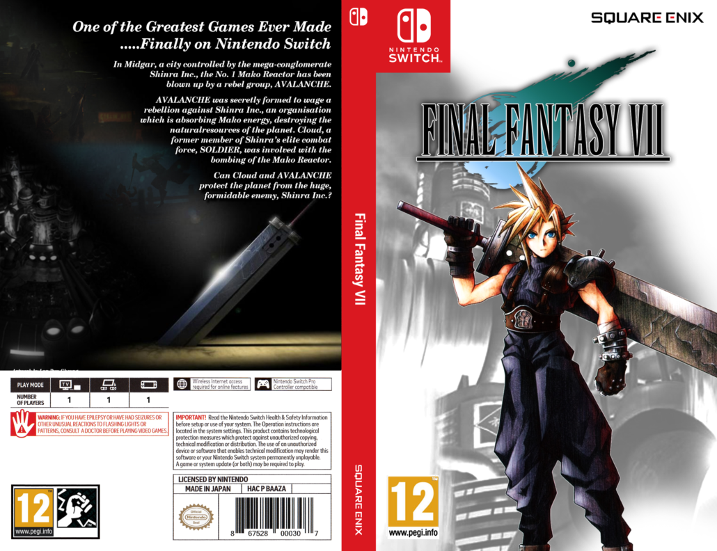 Final Fantasy VII Switch Cover